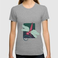 Dragonfly Womens Fitted Tee Tri-Grey SMALL