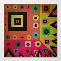 mixed shapes Canvas Print