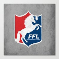Fantasy Football League Canvas Print