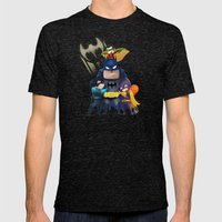 Bat-Family Mens Fitted Tee Tri-Black SMALL