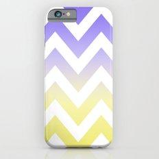 BLUE & YELLOW CHEVRON FADE Slim Case iPhone 6s
