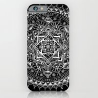 White Flower Mandala On … iPhone 6 Slim Case