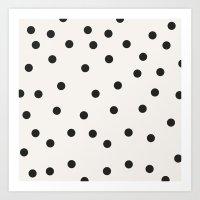 vintage dots 1 Art Print
