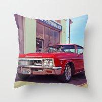 Impala red Throw Pillow