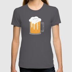 City Beer Womens Fitted Tee Asphalt SMALL