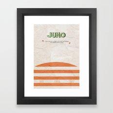 Juno - Alternative Movie Poster Framed Art Print
