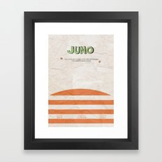 Juno - Alternative Movie Poster Framed Art Print