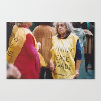 Granny Peace Brigade Canvas Print