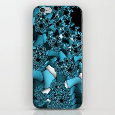 blue and white fractal iPhone & iPod Skin