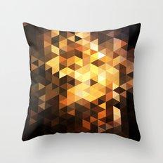 Triangle Design Chocolate Throw Pillow