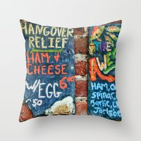 Hangover Relief Throw Pillow