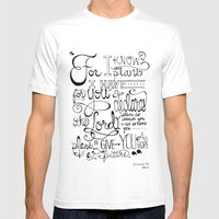 Jeremiah 29:11 Mens Fitted Tee White SMALL