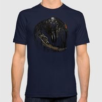 Gravelord Nito - Dark Souls (black tee PNG edition) Mens Fitted Tee Navy SMALL