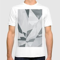 Ice Cracks #1 Mens Fitted Tee White SMALL