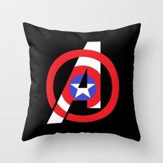 Captain Avenger Throw Pillow