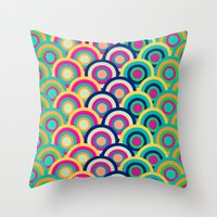Circle Colors Throw Pillow