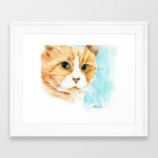 Stan the grumpy cat Framed Art Print