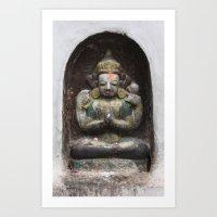 Bodhinath Shrine - 3 Of … Art Print