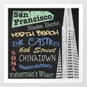 San Francisco Tourism Poster Art Print