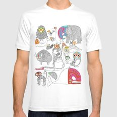 Animales Luchadores SMALL Mens Fitted Tee White