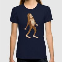 Sasquatch Womens Fitted Tee Navy SMALL