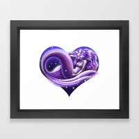 I Heart Mermaids- Ver. 2 Framed Art Print