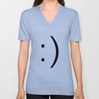 Smiley Unisex V-Neck