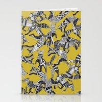 woodland fox party ochre yellow Stationery Cards