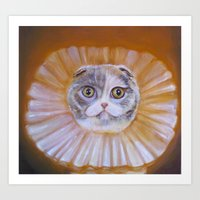 Chauncey Von Whiskerman Art Print