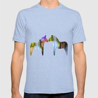 Pick-up Sticks  no41 Mens Fitted Tee Tri-Blue SMALL