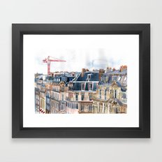 Roofs of Paris Framed Art Print