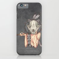 iPhone & iPod Case featuring Long live the dead - Raccoon by Moonsia