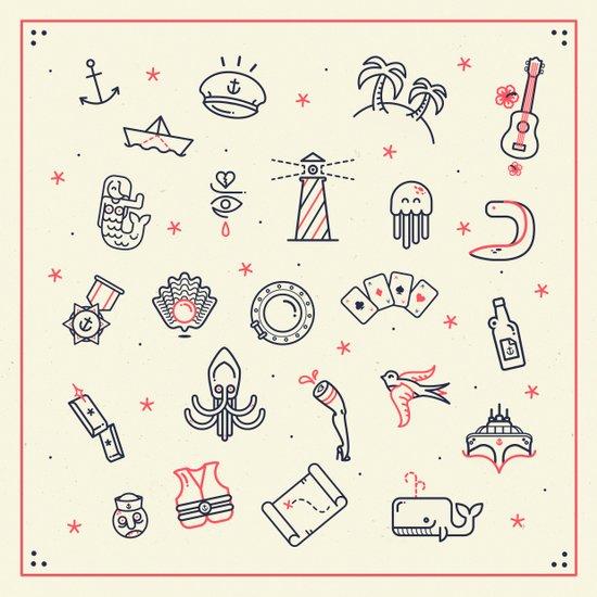 Ahoy! Icons Art Print