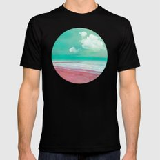 SILENT BEACH Mens Fitted Tee SMALL Black