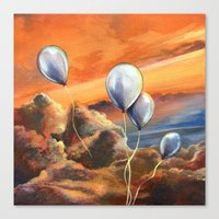 Balloons in the Sunset Canvas Print