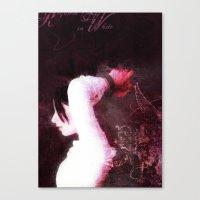 Requiem in White Canvas Print