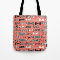 Bow tie geek in pink Tote Bag