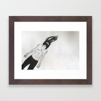 Drifting Man Framed Art Print