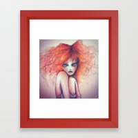 fire my heart  Framed Art Print