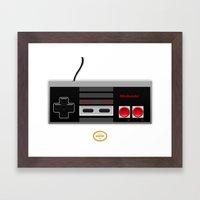 Nintendo Entertainment System Framed Art Print