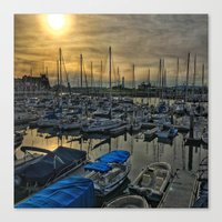 Sunset in Shoreline Canvas Print