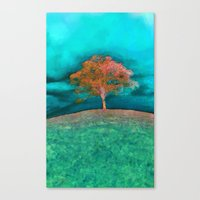 ABSTRACT - Solitary Tree Canvas Print