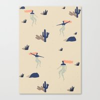 Dezert Swim Canvas Print