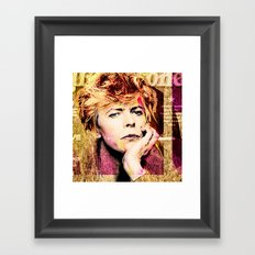 One Star Framed Art Print