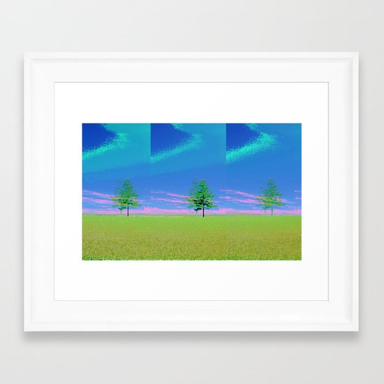 triple tree  Framed Art Print
