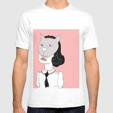 Catface  Mens Fitted Tee White SMALL