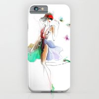 the girl with butterflies iPhone 6 Slim Case