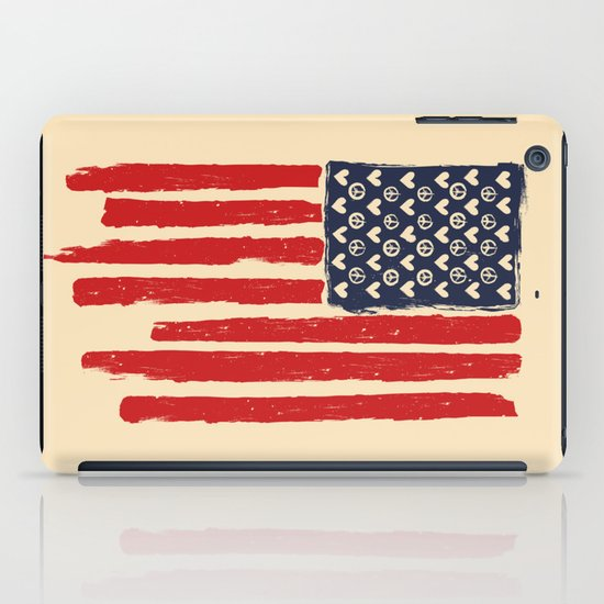 Red and Blue and White iPad Case