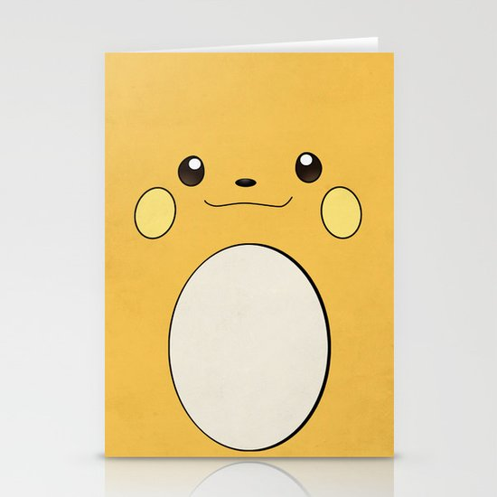 Raichu - Pikachu's evolution. Pokemon Poster Stationery Card