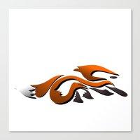 Graffiti Fox Canvas Print